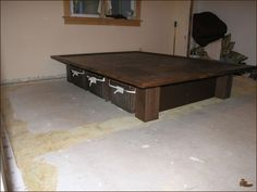 Platform Bed With Storage Plans for I phone — Modern Storage Bed