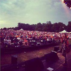Insane crowd last night!!! #15000 #friendsfest2013 - Lauren Taylor