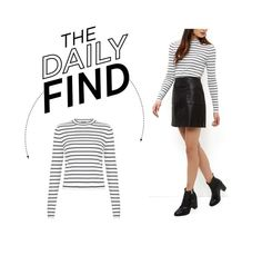 """The Daily Find: New Look Funnel Neck Top"" by polyvore-editorial ❤ liked on Polyvore featuring women's clothing, women's fashion, women, female, woman, misses, juniors and DailyFind"