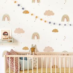 Our Rainbows wallpaper will transform your baby's nursery, child's bedroom or kids playroom into a happy, joyful and stylish space. Wallpaper Direct, Kids Wallpaper, Rose Wallpaper, Wallpaper Roll, Baby Nursery Wallpaper, Bedroom Wallpaper, Baby Bedroom, One Bedroom, Kids Bedroom