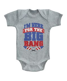 Look at this #zulilyfind! Heather Gray 'I'm Here For The Big Bang' Bodysuit - Infant by Festivi-tees #zulilyfinds