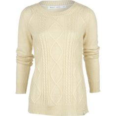 Woolrich Cable Mohair Sweater ($45) ❤ liked on Polyvore featuring tops, sweaters, cable knit sweater, chunky cable sweater, relaxed fit tops, beige top and mohair sweater