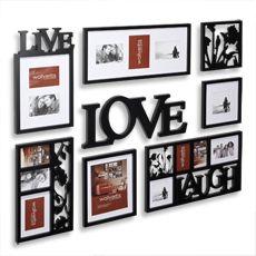Bed Bath and Beyond - Wallverbs™ 8-Piece Frame. Love this wall arrangement
