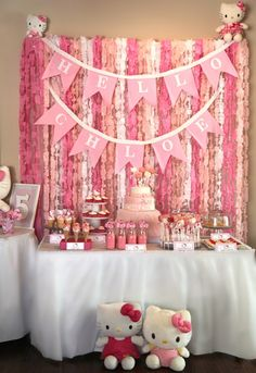 DIY hello kitty birthday party-- I see a Hello Cady party in my future!