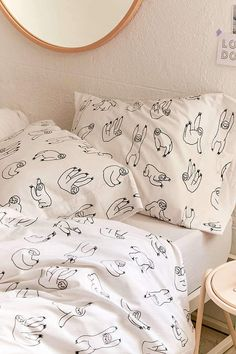 Urban Outfitters Sloth Pillowcase Set