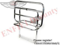 VESPA CARRIER REAR FOLDING RACK CHROME PLATED PX PE T5 STELLA SCOOTER
