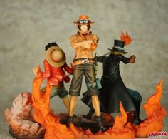 Pop One Piece Action Figures Dxf Sabo, Monkey`d`luffy, Ice Statue Three Brothers Figures A Set From Hahanvsvicky, $39.27 | Dhgate.Com