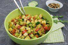 Bunter Avocado Salat - Katha-kocht! Salat Al Fajr, Aioli, Couscous, Ratatouille, Quiche, Feta, Potato Salad, Catering, Salsa