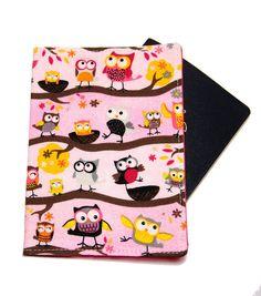 Light Pink Owls on a Branch Passport Cover/Holder by oddsnblobs (Accessories, Case, Passport, holder, cozy, travel, vacation, passport, australia, us passport, twin dual cover, double passport, cute, pink, kids, children)