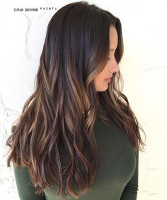 Soft Chocolate Waves -honey highlights, caramel and blonde in the deep espresso base color.
