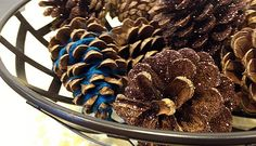 DIY Holiday: 3 Inexpensive Ways to Decorate with Pinecones :: Mint.com/blog