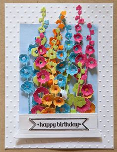 Impression Obsession Hollyhocks cards published in Australian Card making…