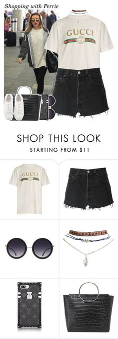"""980 • Shopping with Perrie"" by queenxxbee ❤ liked on Polyvore featuring Gucci, RE/DONE, Alice + Olivia, Wet Seal, Little Liffner, littlemix and perrieedwards"