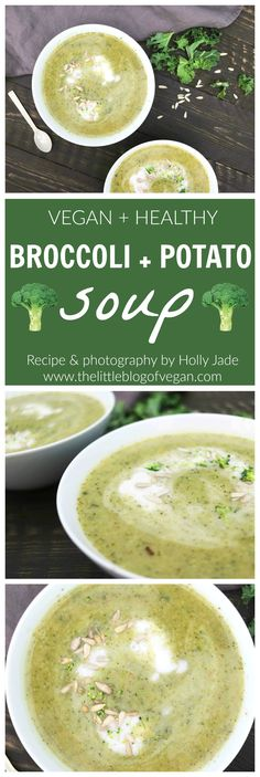 Homemade healthy broccoli & potato soup with chilli. Natural healthy, wholesome and very quick & easy to make.