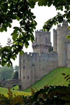 Medieval Warwick Castle in Warwickshire, England