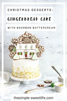 Turn heads and drop jaws at the next Christmas gathering with this gingerbread cake smothered in a boozy bourbon frosting. Best Cookie Recipes, Sweet Recipes, Cake Recipes, Dessert Recipes, Great Desserts, Delicious Desserts, Ganache Cake, Baking Basics, House Cake