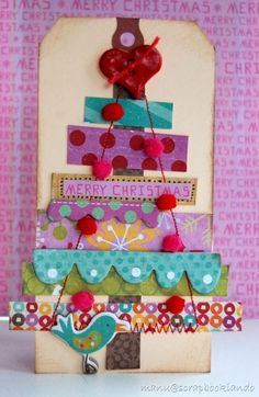 Christmas Tree Card (or could it be a multi-level birthday/wedding/welcome baby cake???)