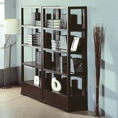 Sure, the Parson Bookcase - Wenge is a beautiful way to keep treasured books in place – for those of us who still enjoy a good read. Design Your Home, Home Office Design, House Design, Garden Design, 4 Shelf Bookcase, Bookshelves, Living Room Shelves, Living Room Furniture, Home Office Organization