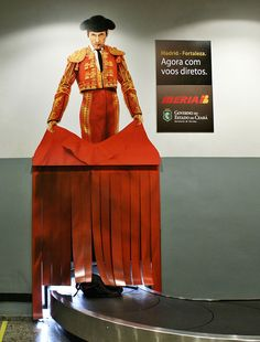 Airport Baggage Claim Ad ----- WELCOME TO SPAIN !!