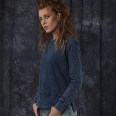 #brandpl #womencollection #women #sweatshirts #onlinestore #online #store #shop #fashion #standard #mustang #cold #dye #cotton #dressblue