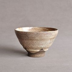 Antique Japanese Hagi Spiral Tea Bowl Edo period 18th century Kintsugi Chawan