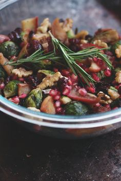 Post image for Warm Brussels Sprout Salad With Apples & Pomegranate