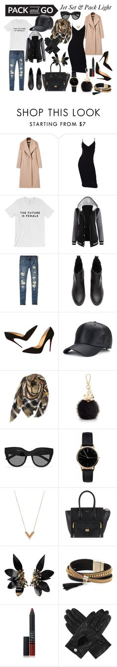 """Jet Set and Pack Light- Pack and Go Contest"" by lolouise on Polyvore featuring Michael Kors, Hollister Co., Christian Louboutin, Furla, Le Specs, Freedom To Exist, Louis Vuitton, Henri Bendel, Marni and Simons"