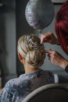 Amy Pearce married Michael Birtle at Clevedon Hall, the same venue where their Valentines Day proposal took place. Click the link to view the full album! Bridal Hair Updo, Bridal Hairstyles, Pretty Hairstyles, Gray Weddings, Somerset, Grey And White, Proposal, Amy, Dreadlocks
