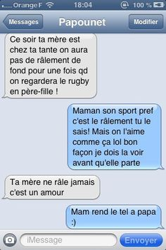 DYING OF LAUGHTER ! Here are 10 of the most funny text exchanges between fathers and girls! Funny Sms, Funny Text Messages, Funny Texts, Funny Jokes, Memes Humor, Father And Girl, Rugby, Accounting Humor, Funny Friday Memes