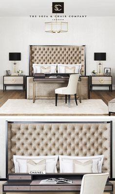 The Sofa & Chair Company Dream Bedroom, Home Decor Bedroom, Bedroom Furniture, Master Bedroom, Furniture Design, Interior Design Gallery, Luxury Interior Design, Sofa And Chair Company, Luxury Sofa