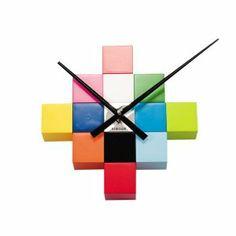 Karlsson Multi Colour Cube Contemporary DIY Wall Clock in Home, Furniture & DIY, Clocks, Wall Clocks Depot Design, Mur Diy, Innovation Living, Bright Walls, Cool Clocks, Unusual Clocks, Deco Originale, Diy Clock, Clock Wall