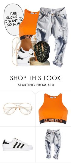 """untitled #67"" by yani122 ❤ liked on Polyvore featuring Calvin Klein, adidas Originals and River Island"