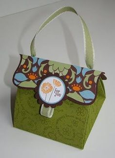 explosion box purse - larger one using a 12x12 piece of paper