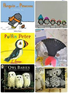 {Read & Create Activities}  Wonderful arctic stories to paired with adorable fine motor crafts for kids!