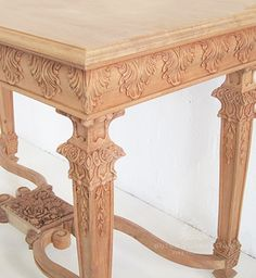 Traditional Carved Console Table / Acanthus Console Table / Dutch Connection