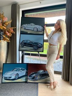 LinkedIn Car Painting, Luxury Cars, Porsche, Paintings, Sign, Skirts, Pants, Fashion, Moda