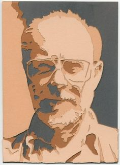Self Portrait in cut paper