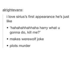 Sirius looked nothing like i imagined him in the books. I saw the movie and i was tempted to write a strongly worded letter to the idiots who produced it and tell them exactly where the fake sirius and the movie could go. Harry Potter Marauders, Harry Potter Fandom, Harry Potter Memes, Harry Potter World, The Marauders, Hogwarts, Slytherin, Must Be A Weasley, No Muggles