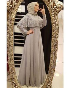 جمال واناقة😍😍😍 by Hijab Prom Dress, Hijab Gown, Muslimah Wedding Dress, Hijab Evening Dress, Hijab Style Dress, Hijab Wedding Dresses, Muslim Dress, Dress Wedding, Bridesmaid Dress