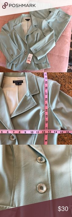 NWT MINT GREEN PANTS AND BLAZER NEW WITH TAGS! Thanks for visiting my closet! XOXO Pants Trousers