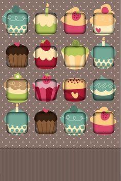 Cupcake iPhone shelf