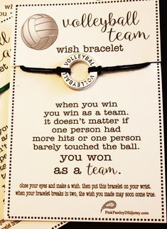 Volleyball Workouts Discover 12 Volleyball Team Wish Bracelets . Pick Your Color . Great for Team Gifts Team Spirit and More! Volleyball Party, Volleyball Team Gifts, Volleyball Workouts, Coaching Volleyball, Volleyball Ideas, Volleyball Crafts, Softball Players, Volleyball Jewelry, Cheerleading Gifts