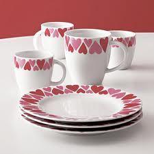 heart plates and mugs