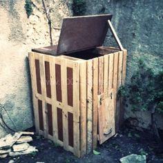 pallet_composter, PARA HACER UNA COMPOSTURA O ABONERA CON PALETS O JAVAS RECICLADAS...FORRARLAS DE TELA PLÁSTICA POR DENTRO PARA QUE NO SE PUDRAN FACILMENTE