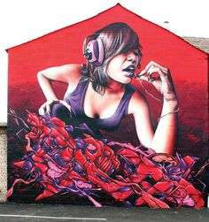 Cool collection of urban art & street art girls. See more urban girls, graffiti girls, art girls & original graffiti art from urban artist Mr Pilgrim. 3d Street Art, Murals Street Art, Urban Street Art, Best Street Art, Amazing Street Art, Street Art Graffiti, Street Artists, Banksy, Graffiti Artwork