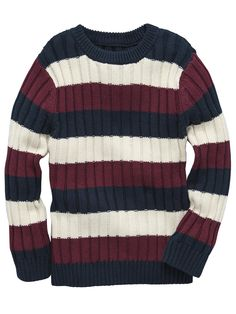 af9908dbe536 bluezoo Boy s red wide striped jumper- at Debenhams.ie