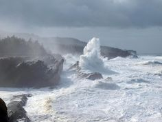 Oregon's Pacific Coastline near Coos, Bay Oregon-It does this every November. The waves are amazing.