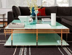 Contemporary style coffee table. I really like the separated edges.