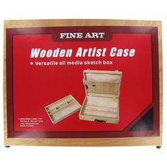 This wooden artist case is a versatile all-media sketch box that features a removable tray with multiple compartments.   Shop Hobby Lobby