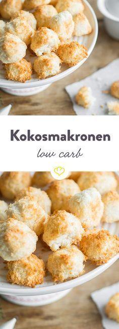 Birkenzucker sorgt hier für ein Minimum an Kohlenhydraten. Das Beste: Es braucht nur wenige Minuten, um diese Low Carb Kokosmakronen zuzubereiten.